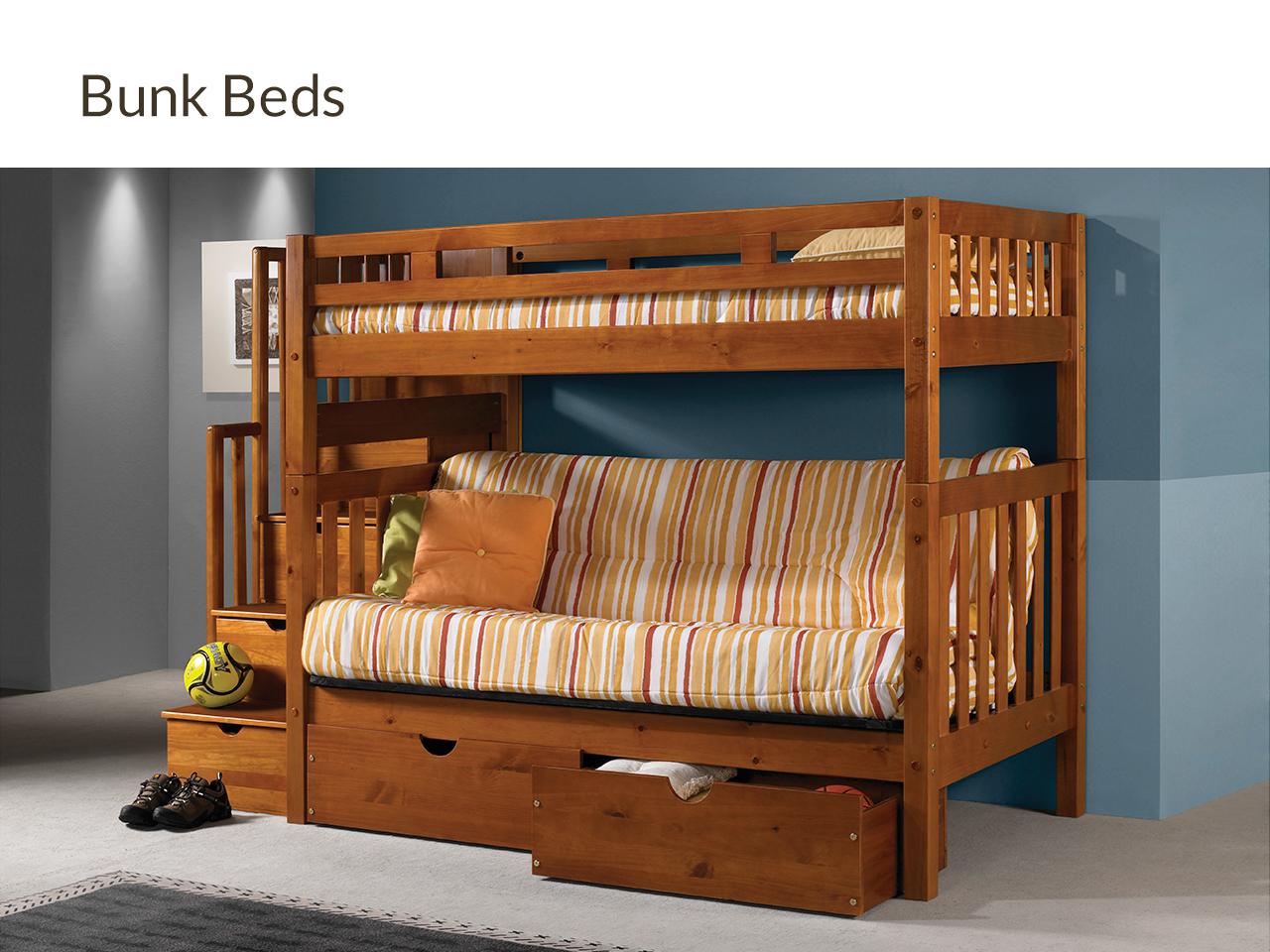 Futons Waterbeds Organic Mattresses Bunk Beds Bean