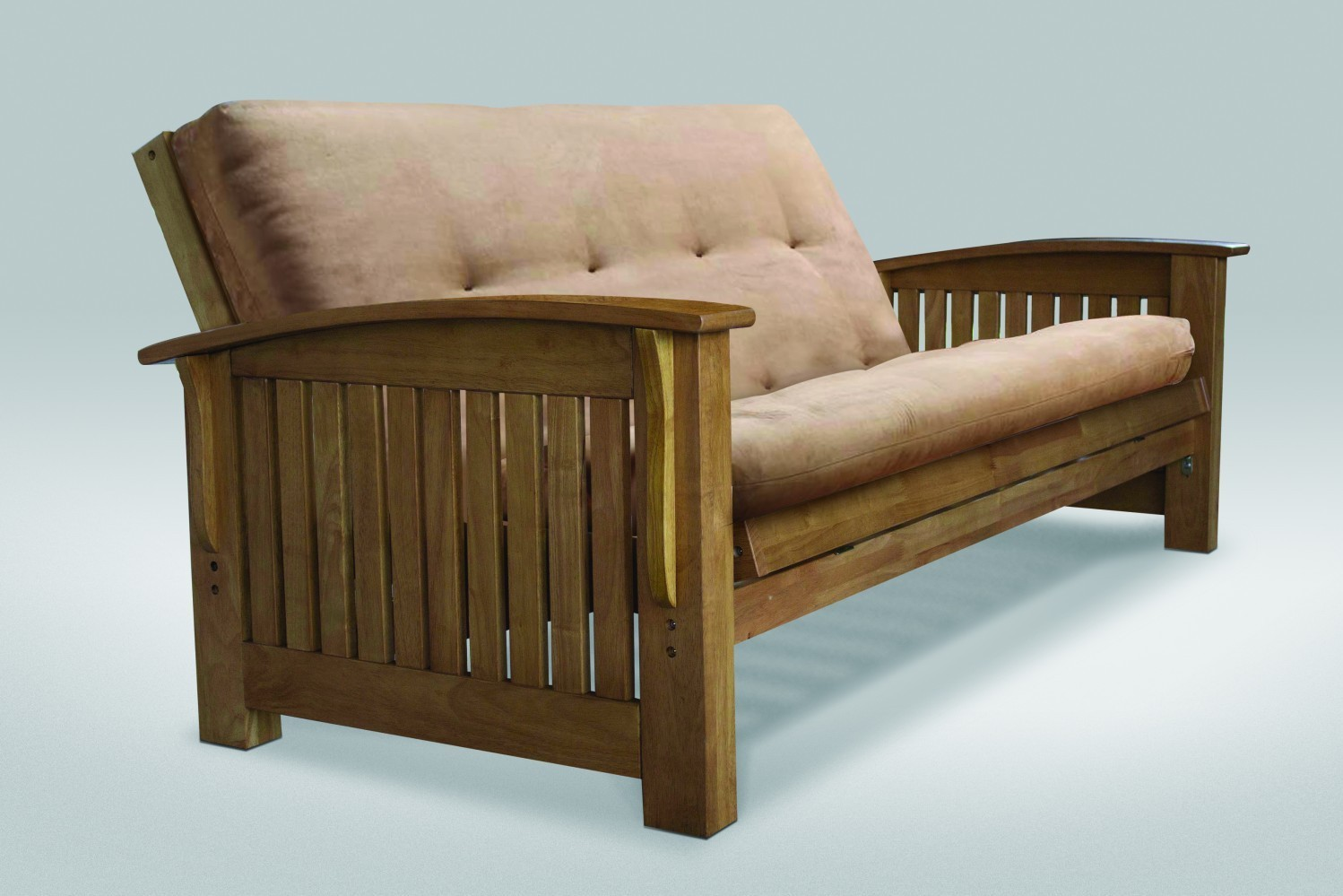 Torrence Full Size Futon Frame Medium Oak Right Futons