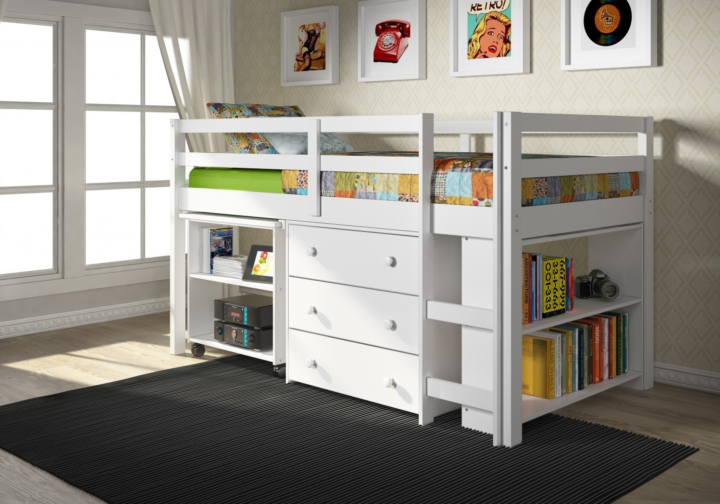 DONCO KIDS TWIN LOW LOFT BED