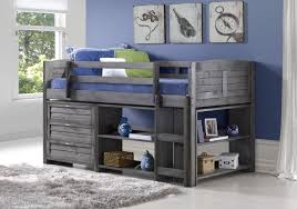 DoncoR Antique Grey Modular Low Loft Bunk Bed 64900 Decorate Your Childs