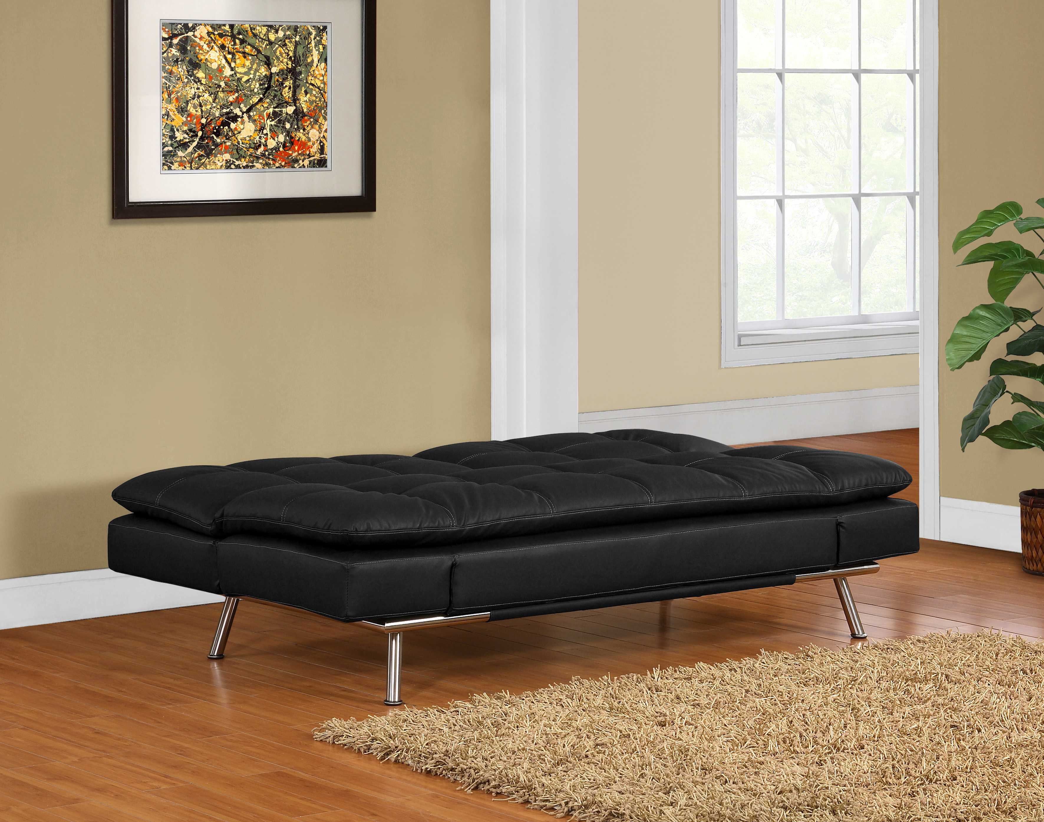 Matrix Double Cushion Bed In Black Ppu