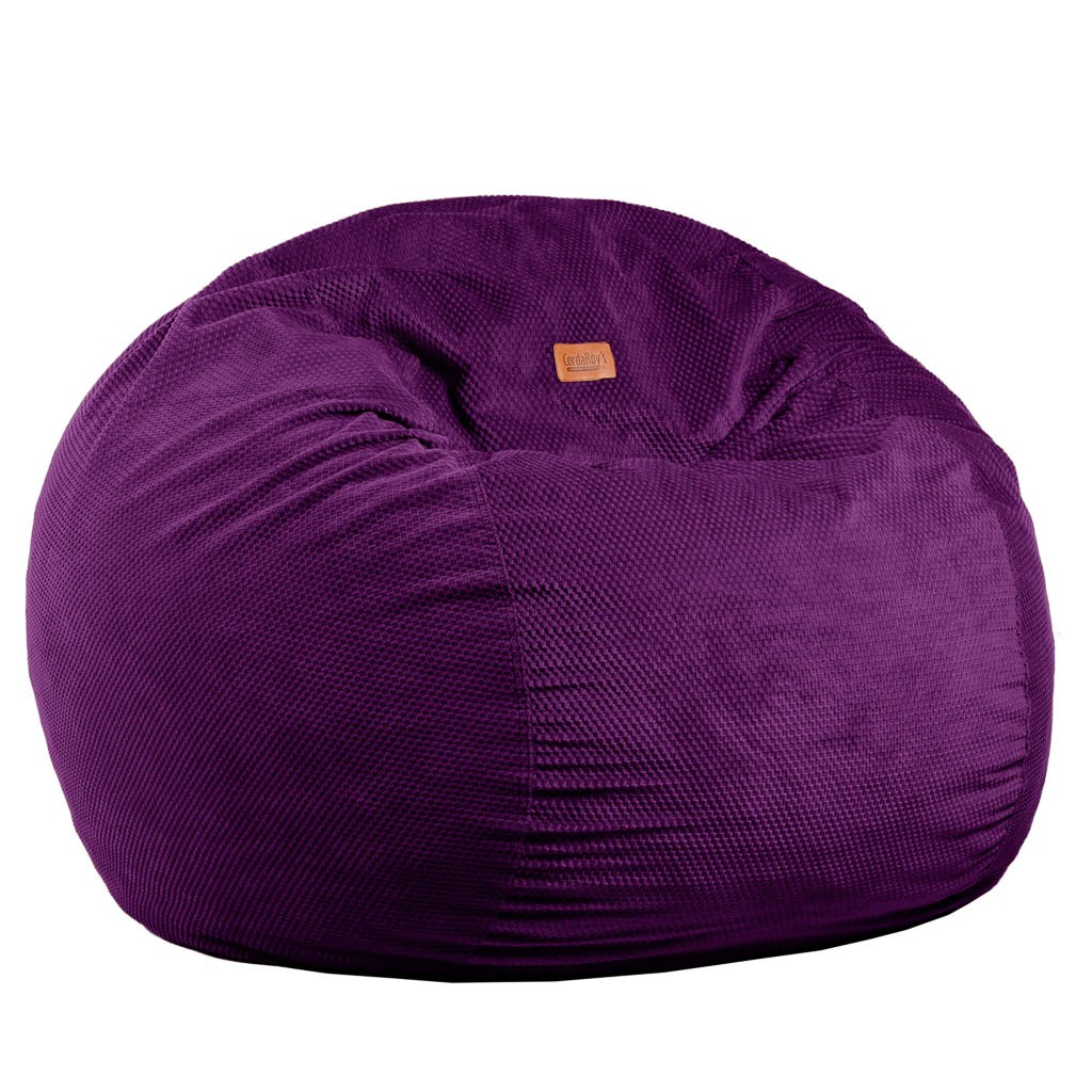 Wondrous Full Size Eggplant Chenille Bean Bag Converts To A Bed Unemploymentrelief Wooden Chair Designs For Living Room Unemploymentrelieforg