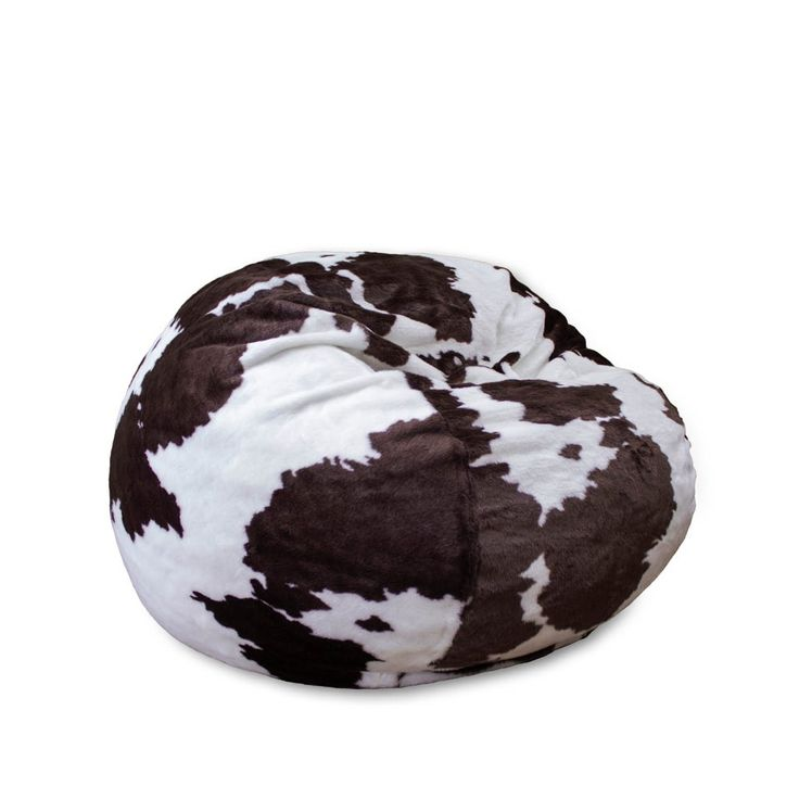 Full Cordaroy S Faux Cow Fur Sleeper Bean Bag Right Futons Waterbeds