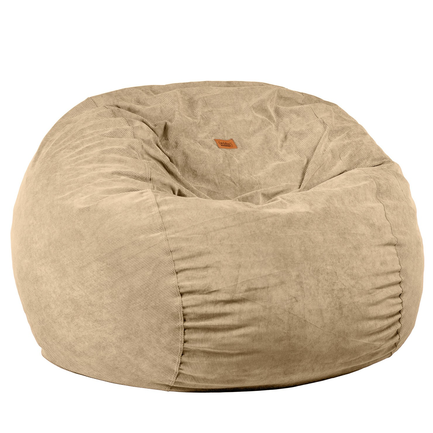 Full Size Khaki Corduroy Bean Bag Sleeper Right Futons