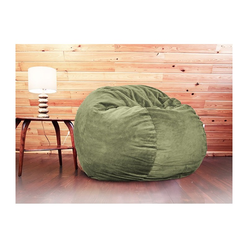moss green chenille full size full size moss green chenille bean bag converts to a bed    right      rh   rightfutons