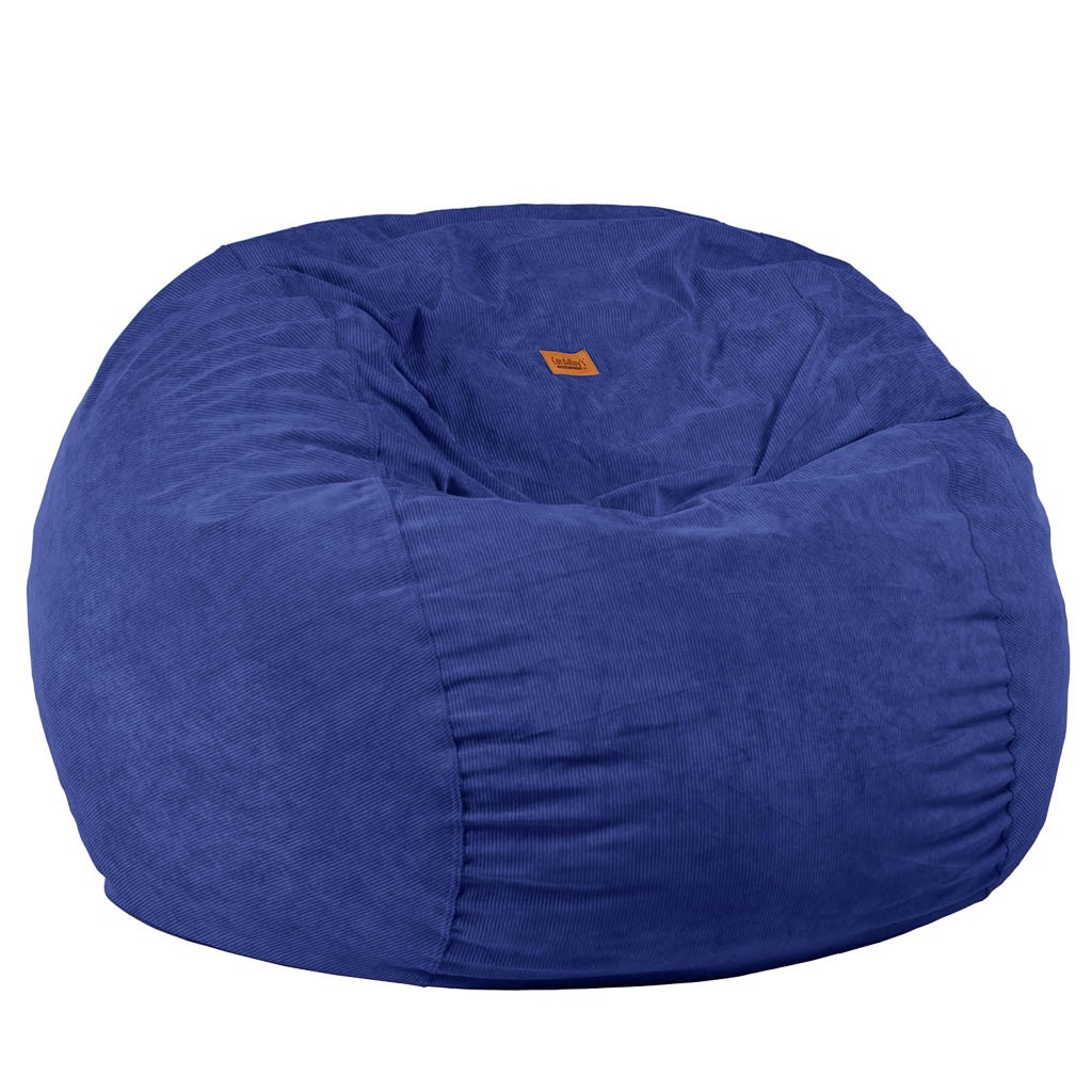 Full Size Navy Blue Corduroy Bean Bag Sleeper