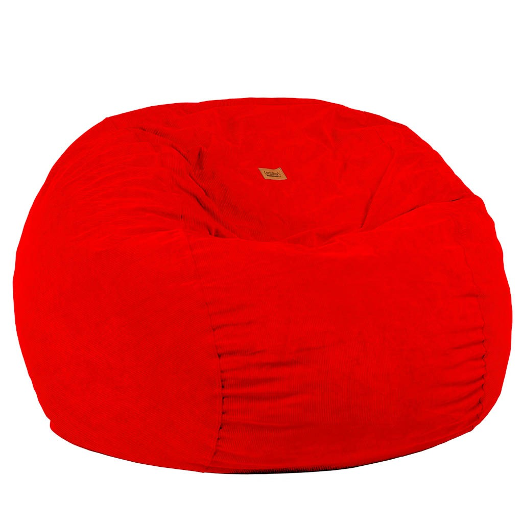 Full Size Red Corduroy Bean Bag Converts ...