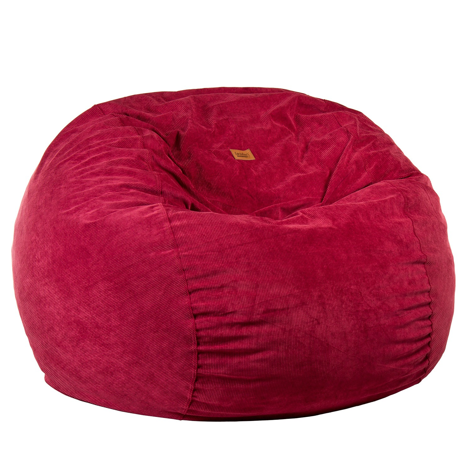 Admirable Full Size Wine Corduroy Bean Bag Converts To A Bed Dailytribune Chair Design For Home Dailytribuneorg