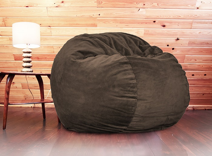 Tremendous Full Size Expresso Chenille Bean Bag Theres A Bed Inside Alphanode Cool Chair Designs And Ideas Alphanodeonline