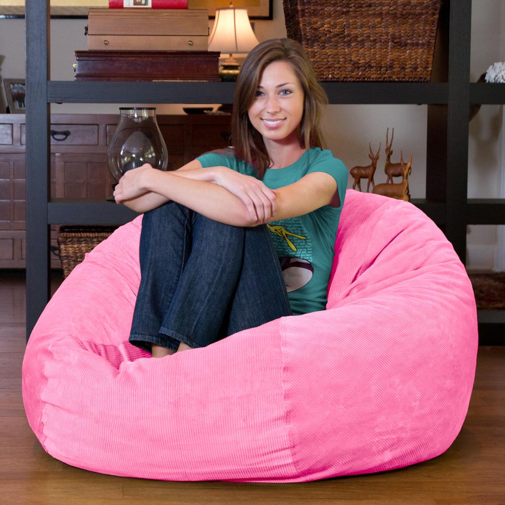 full size pink corduroy bean bag sleeper full size pink corduroy bean bag sleeper   right futons  u0026 more  rh   rightfutons