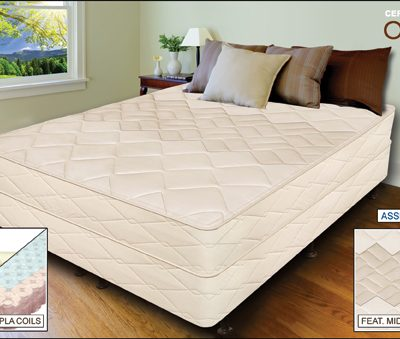 "Allura - 10"" Natural Latex and Coil Mattress"
