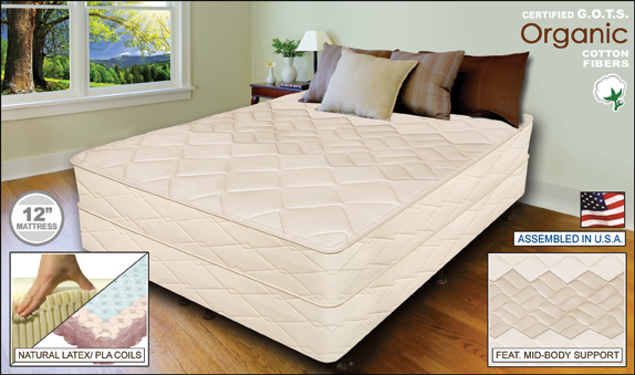 Elite 12 Natural Latex And Coil Mattress Twin Xl