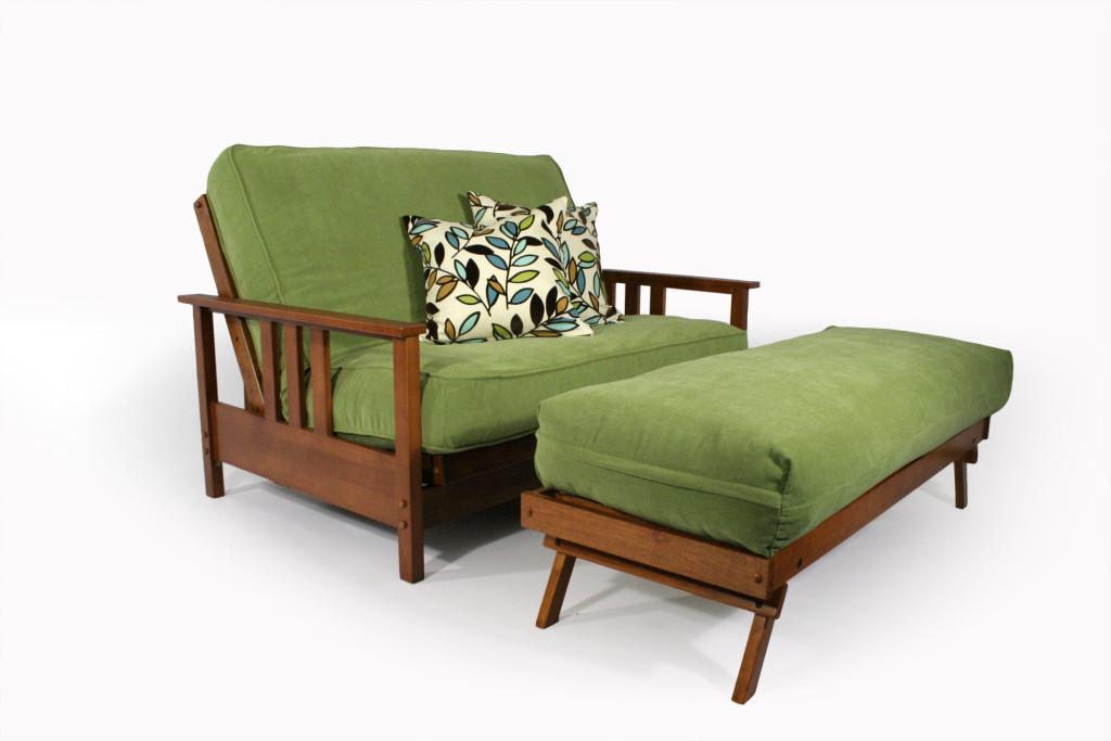 Durango Love Seat Ottoman Wallhugger Futon Frame