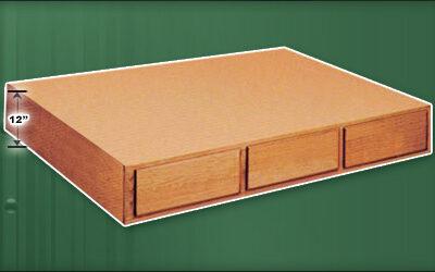 12 inch 6 Drawer Oak Pedestal