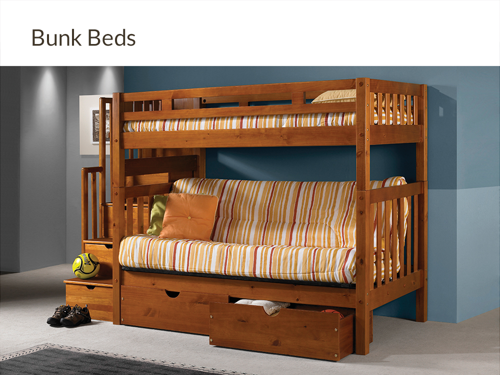 Bunk Beds at Right Futons & Waterbeds Houston Texas