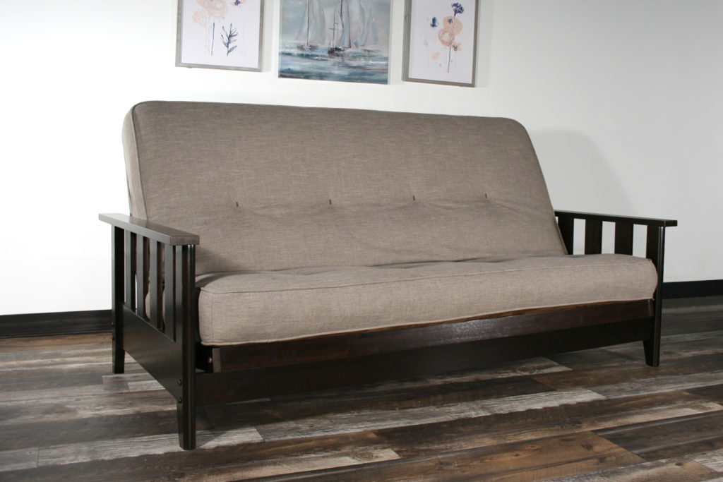 Canby Full Size Wall Hugger™ Black Walnut Futon Frame ONLY